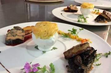 Restaurant gastronomique proposant l'accord mets vins à Cadillac